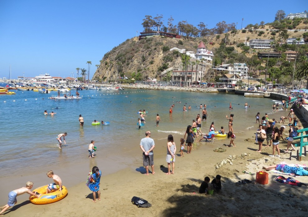 Crescent Beach On Catalina Island