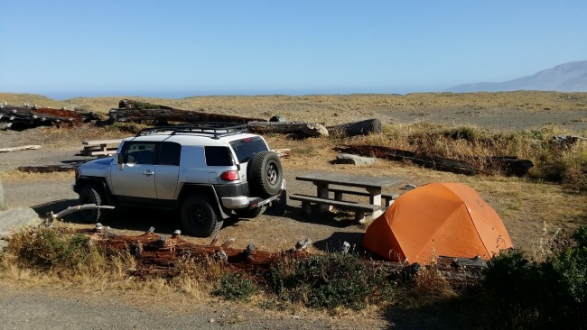 beach camping in northern california california beaches. Black Bedroom Furniture Sets. Home Design Ideas