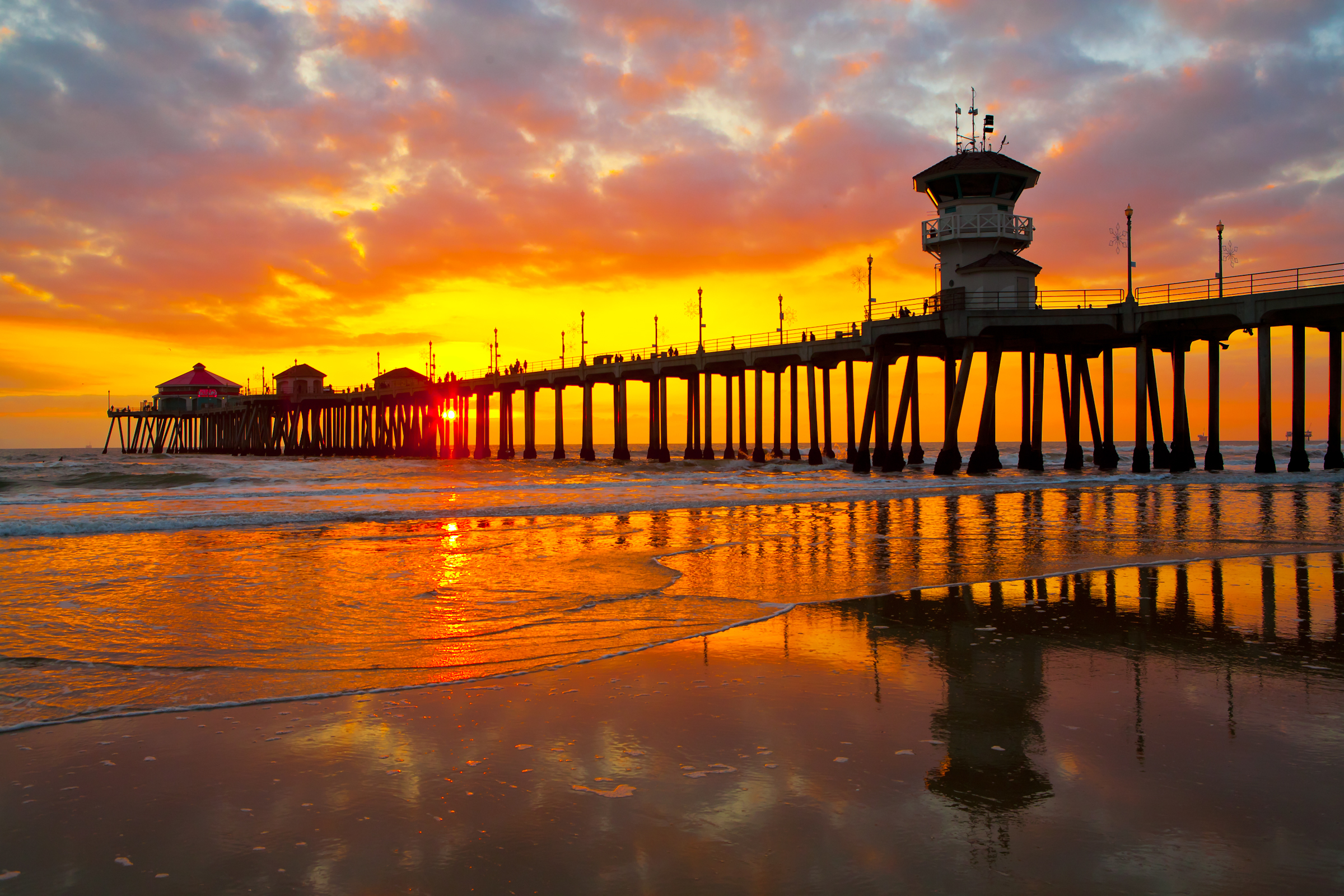 Orange County Piers California Beaches