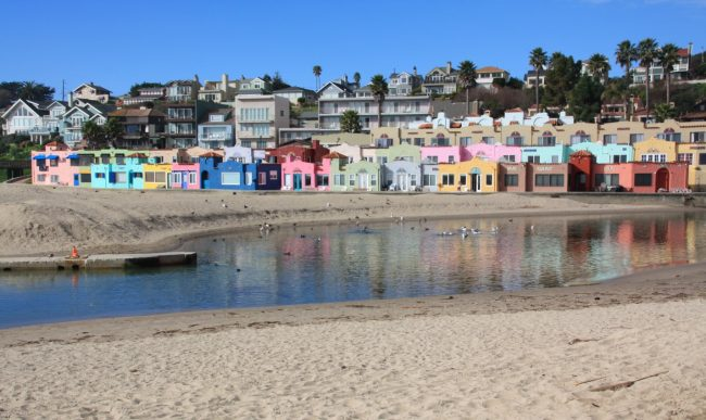 Capitola The Oldest Seaside Town In California Is About A 90 Minute Drive South From San Francisco Its Rows Of Colorful Venetian Inspired Beach